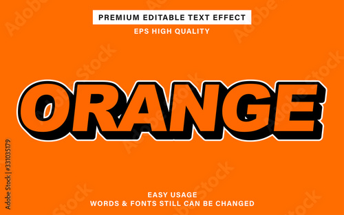 orange text effect Tablou Canvas