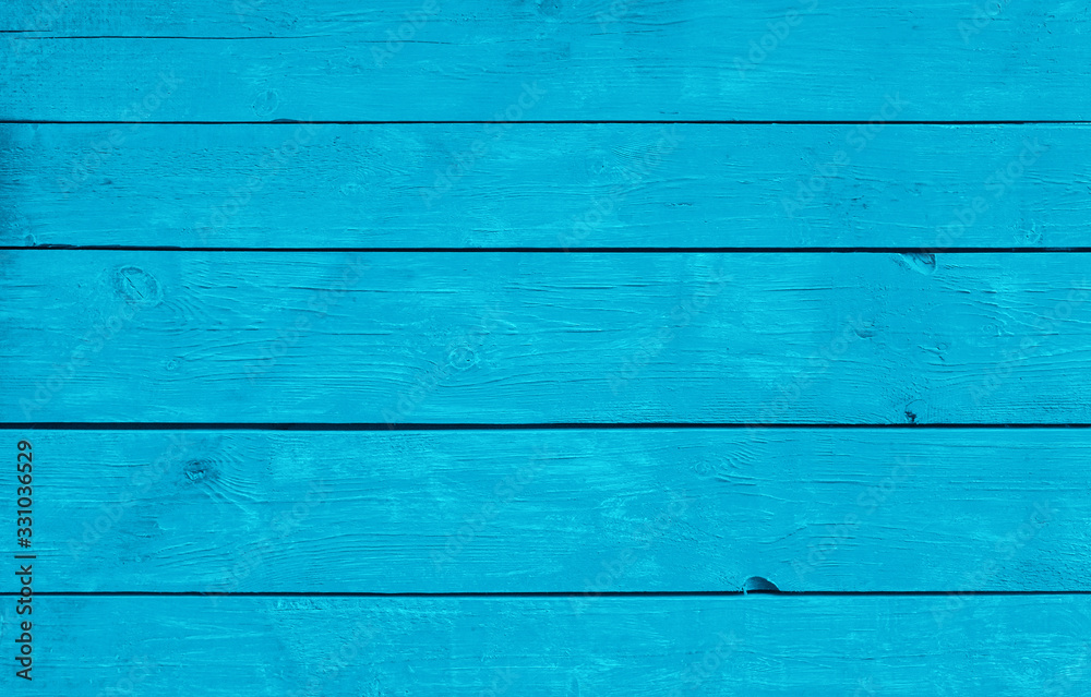 Fototapeta Blue weathered painted wooden planks background