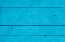 Blue Weathered Painted Wooden Planks Background