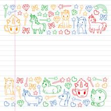 Children Pattern With Fairy Ta...