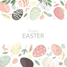 Easter Eggs Composition Seamle...