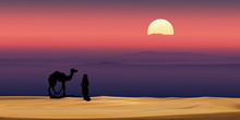 Vector Illustration Arab Man W...