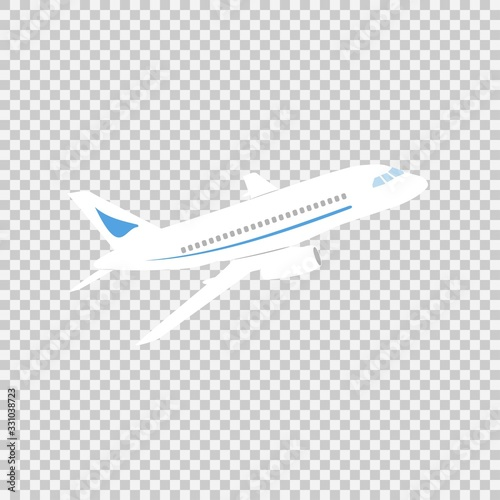 Photo Airplane sign vector icon on a transparent background