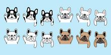 Dog Vector French Bulldog Icon Pet Puppy Cartoon Character Symbol Illustration Doodle Design