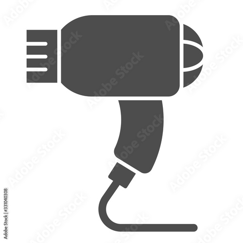 Hair dryer solid icon Wallpaper Mural