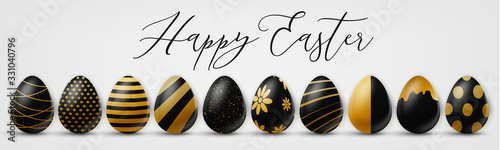 Valokuva Happy Easter holiday banner or newsletter header