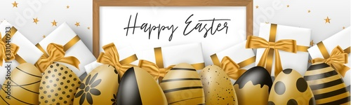 Happy Easter holiday banner or newsletter header Slika na platnu