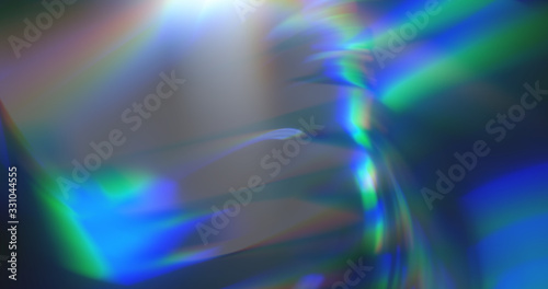 abstract dynamic blue background in the form of aberration and glare from glass Canvas Print