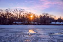 Evening Sun Overlooking A Froz...