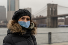 Woman Wearing Surgical Mask Wi...