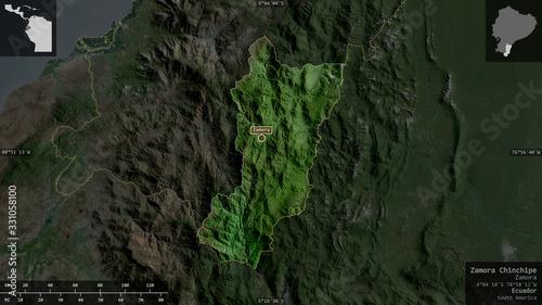 Zamora Chinchipe, Ecuador - composition. Satellite