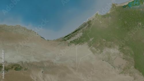 Fotografie, Obraz Al Iskandariyah, Egypt - outlined. Satellite
