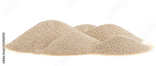 Fotografie, Tablou Pile desert sand dunes isolated on a white background