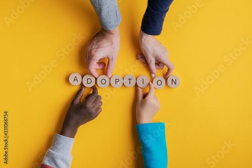 Conceptual image of adoption Canvas Print