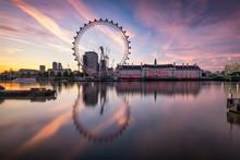 London Cityscape With London Eye
