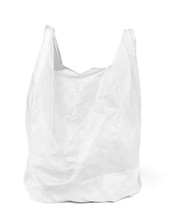 Plastic Bag White Shopping Car...