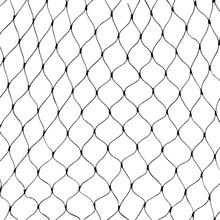 Marine Net Silhouette On White Background