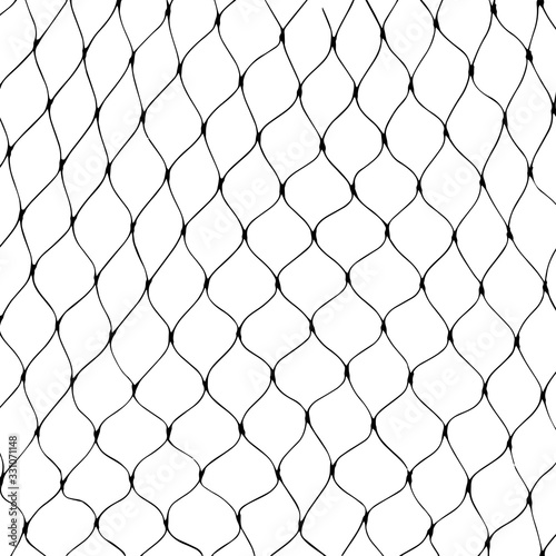Fotografie, Tablou Marine net silhouette on white background