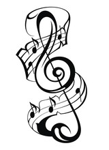 Vector Treble Clef Music Note ...