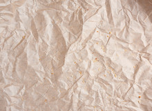 Crumpled Brown Parchment Paper...
