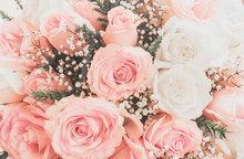Pink Roses Well Use As A Weddi...