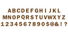 Trendy Alphabet Set, Tiger Pattern Design, Vector Illustration