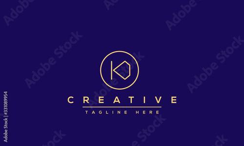 Abstract Monogram letter K Logo design concept Canvas Print