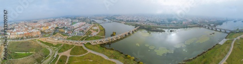 Panoramic view of the city of Badajoz in Spain