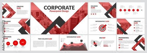Fotografie, Tablou Creative Presentation Design Vector