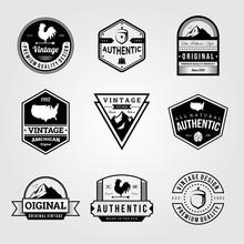 Set Of Vintage Retro Badge Premium Logo Bundles Vector Illustration Design