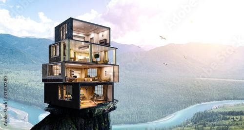 Fototapeta Real estate concept . Mixed media