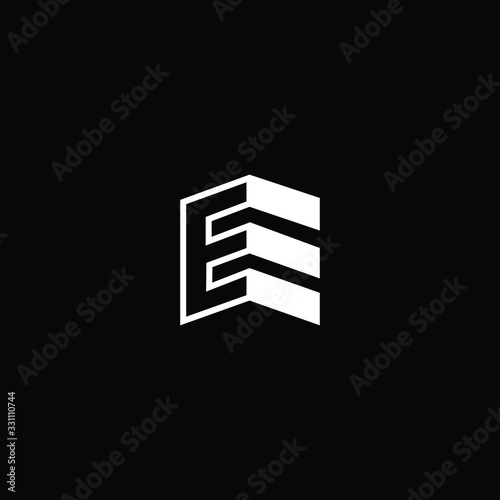Logo design of E in vector for construction, home, real estate, building, property Canvas Print