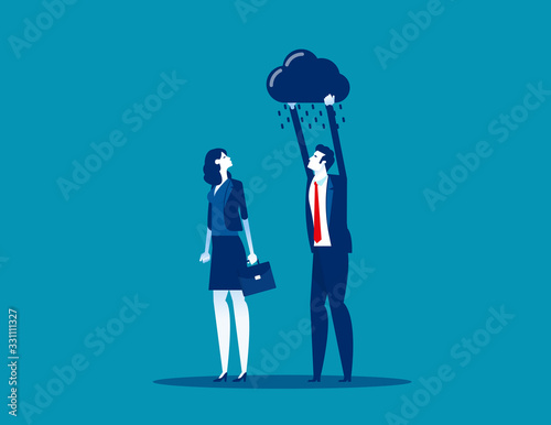 Fotografie, Obraz Person depression sadness. Hopelessness concept