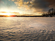 Sunset on lake in northern ontario cottage