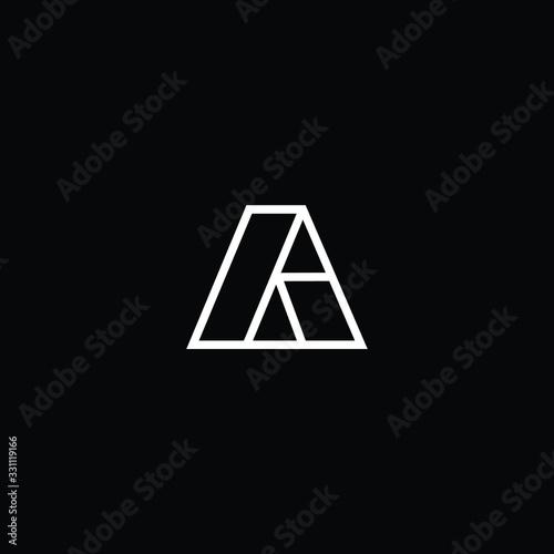 Minimal elegant monogram art logo Canvas Print
