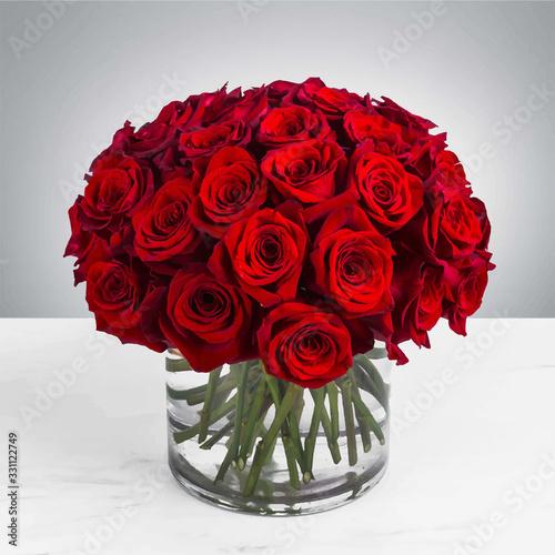 Canvas Print flower bouquet rose