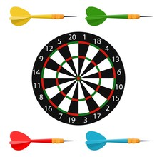Classic Dart Board Target And ...