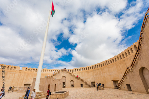 Nizwa Fort, City of Nizwa, Oman: details of fortifications and cannons Fototapeta