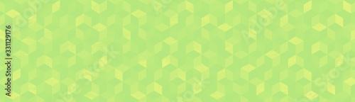 Valokuva Background  キューブ グリーン系幾何学模様の背景イラスト