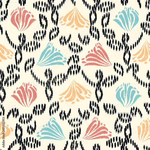 Tapeta do przedpokoju  seamless-abstract-ikat-pattern-with-the-image-of-floral-ornament