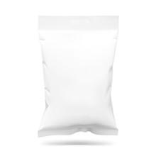 Food Snack Pillow Bag. Vector ...