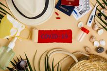 Coronavirus And Travel Concept...