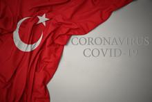 Waving National Flag Of Turkey...
