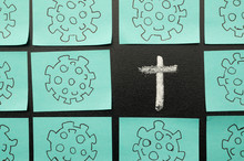 Stickers With Coronavirus. And...