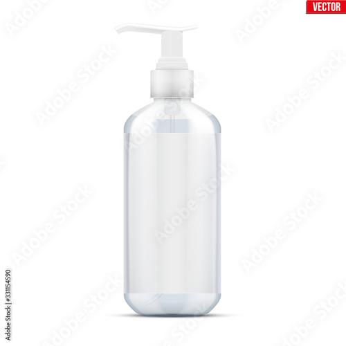 Obraz na płótnie Sanitizer bottle spray with gel