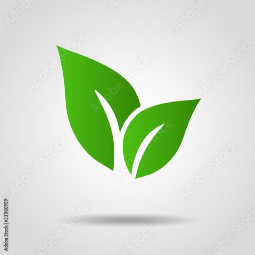 葉っぱのアイコン エコロジーイメージ