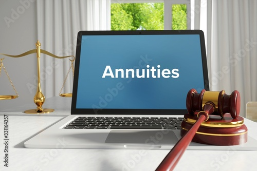 Annuities – Law, Judgment, Web Canvas Print