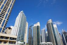 Dubai Marina Skyscrapers, Low ...