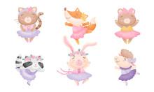 Cute Cartoon Animals In Ballet...