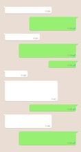 Social Network Chatting Window, Template Message Bubbles Chat, Messenger Screen With Conversation Box. Vector Illustration